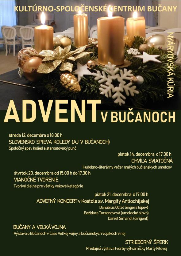 ADVENT V BUČANOCH 2018 - plagát